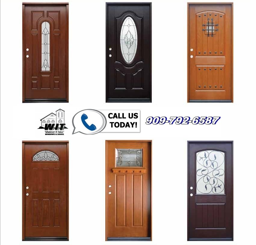 Fiberglass front entry doors redlands for Exterior entry doors