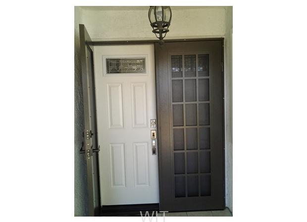 Double Titan Security Doors Installation Wit Windows And