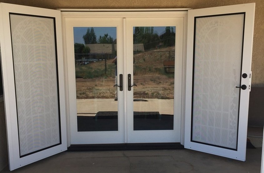 Neuma french doors with titan security doors slider wit for Security doors for french doors